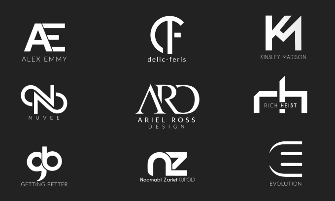 Create Professional Initial Letters Sleek Monogram Logo By Onety One