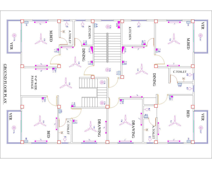 Design Floor Plans 2d And Elevations In Autocad By Mohammadali812 Fiverr
