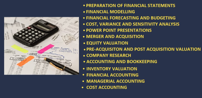do financial modelling, forecasting and ratio analysis