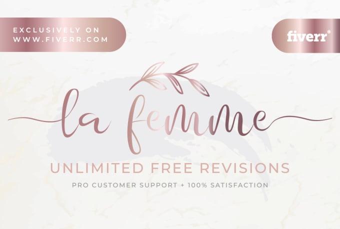 do 3 elegant luxury or feminine logo designs within 24 hours
