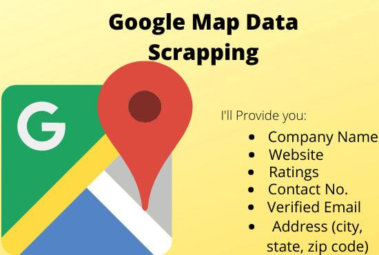 scrape google map business data