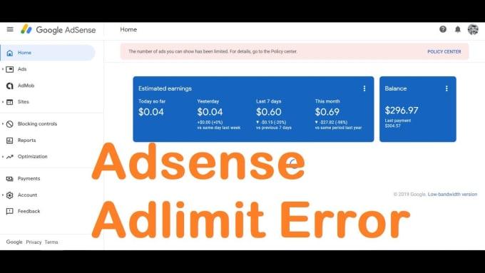 I will fix your google adsense limit