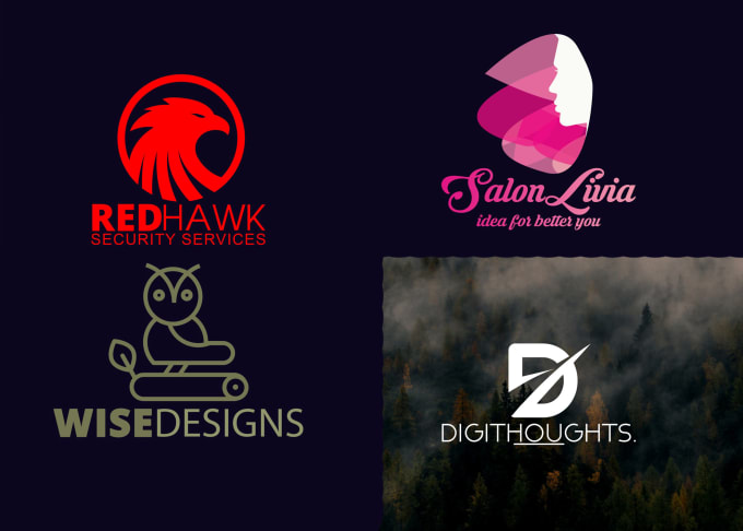 make your brand name as a readable , minimalist  logo