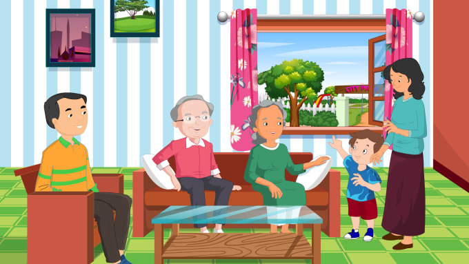 create best quality 2d animations for kids