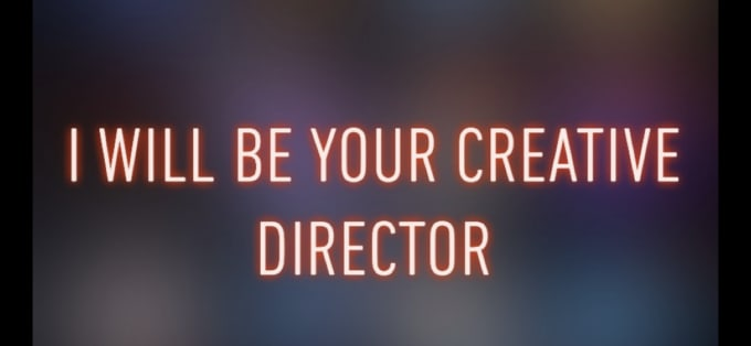 be your creative director