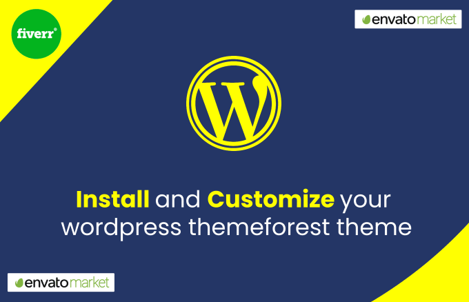install and customize your any wordpress themeforest theme
