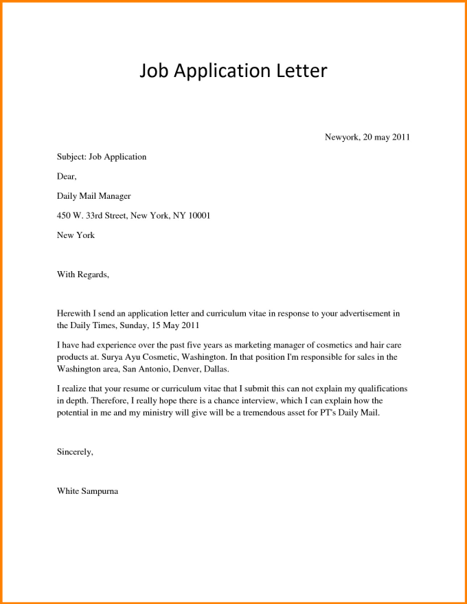 Write The Best Cover Letter For Your