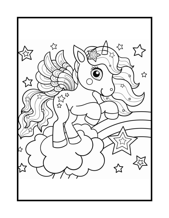 Create Child And Adult Unicorn Coloring Book Kdp By Tapu1988 Fiverr
