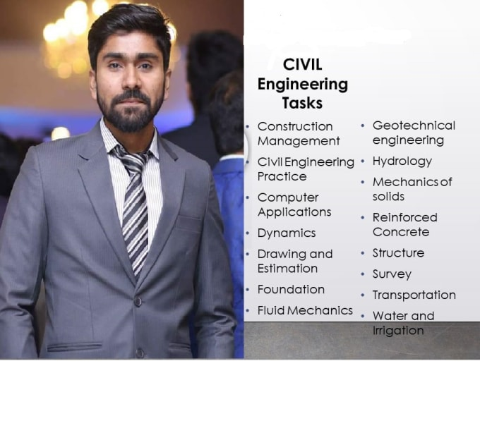 tutor you in civil engineering projects and assignments