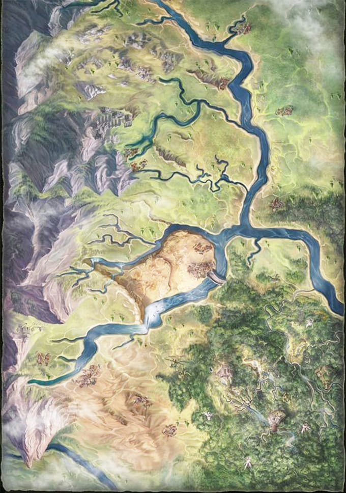draw awesome fantasy map for you