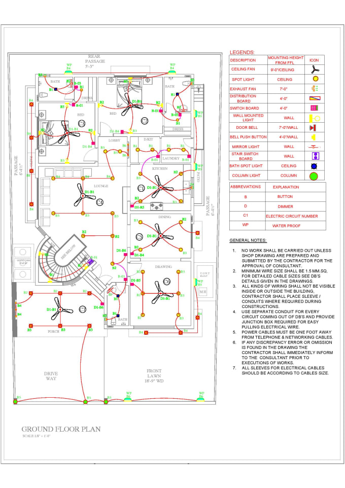 Do mep plumbing electrical or hvac drawing using autocad by Umar_tassadiq |  Fiverr | Hvac Drawing Abbreviations |  | Fiverr