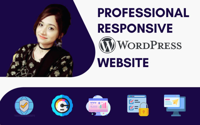 I will create responsive professional wordpress website design or blog site