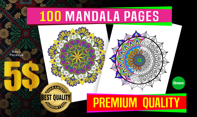 Send You 200 Mandala Coloring Pages Design By Graphicexpert30 Fiverr