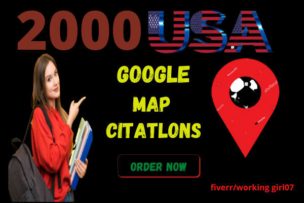 create 2000 google map ranking with listing for local citation any country seo