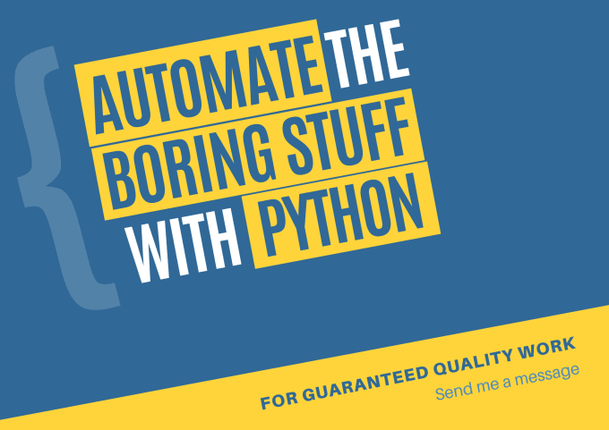 automate your boring stuff with python