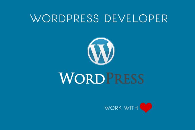 I will create, fix, customize, your wordpress website
