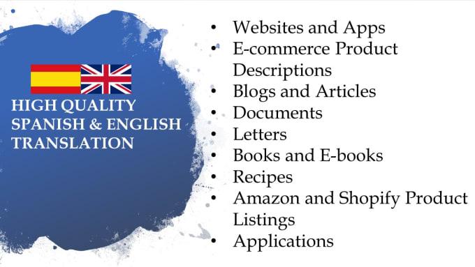 do translation from english to spanish