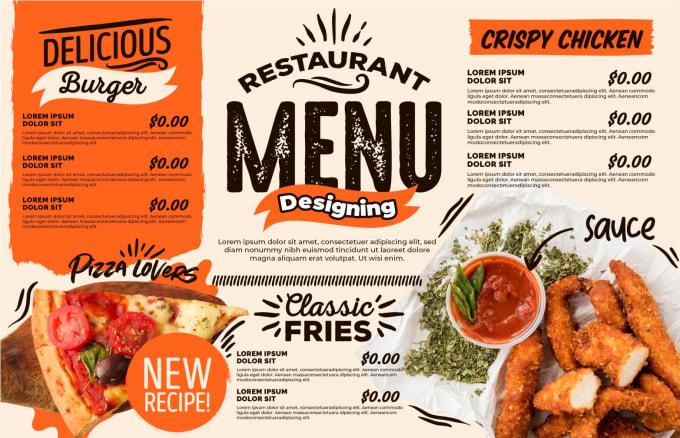 Modern restaurant menu design, digital food menu by Zahidgraphics1 | Fiverr