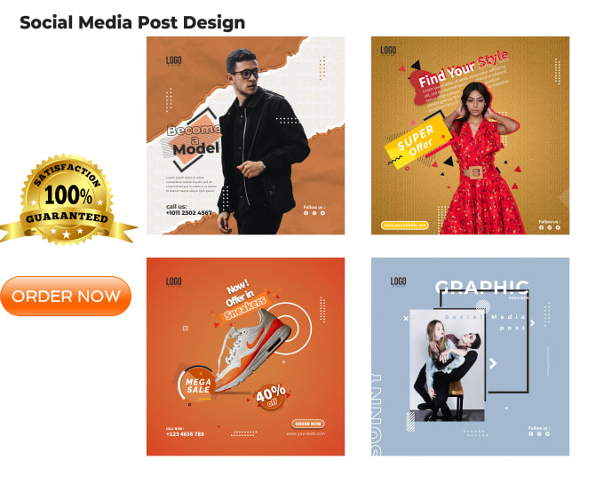 design creative social media posts in 24 hour