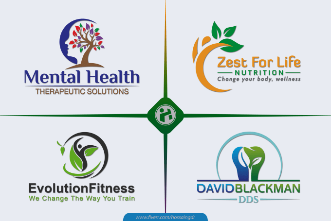 design best mental health, medical, counseling, dental, wellness, spa logo