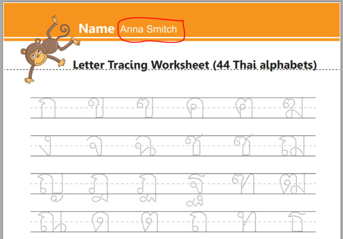 Translate english to thai alphabet