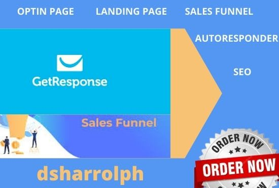 set up a complete getresponse sales funnel and landing page