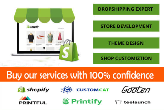 design branded shopify one product dropshipping store