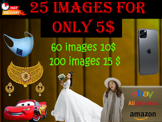 do 25 images background removal  professionally