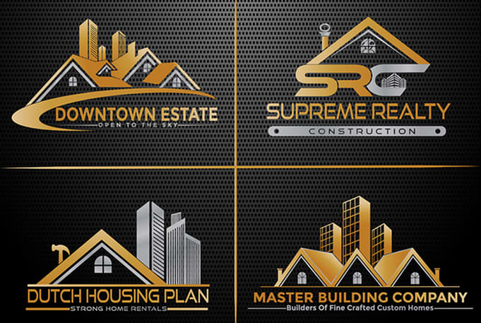 I will creation real estate and construction logo design in 24hr
