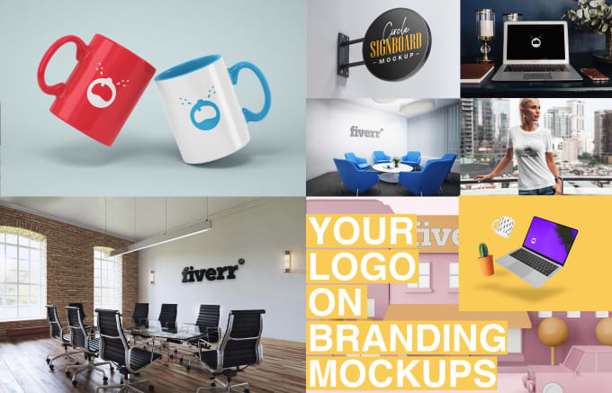 put your logo on 15 realistic branding mockups