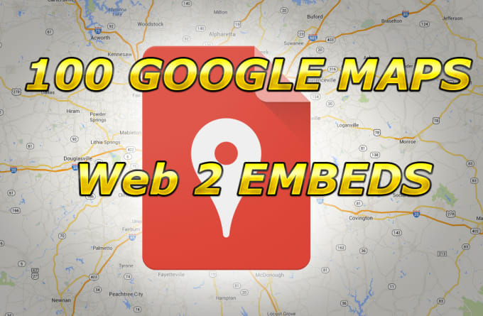 embed your google map in 100 web2 sites