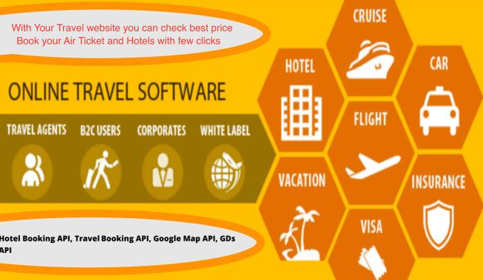 hotel booking API, travel booking API, google map API, gds api