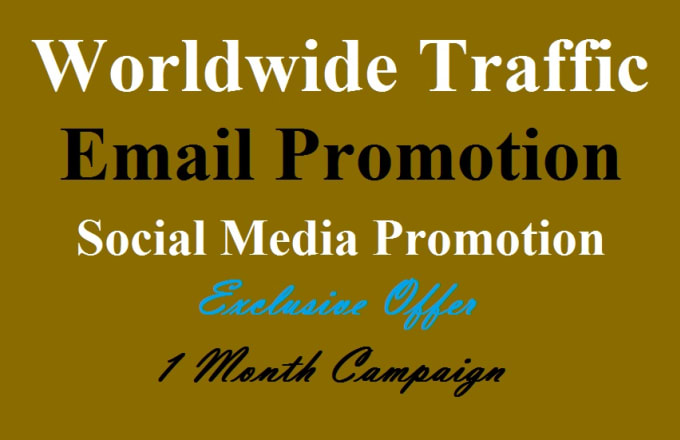 give traffic from social media email promotion