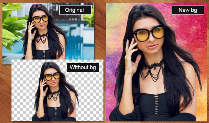 remove background from the images, and edit photos