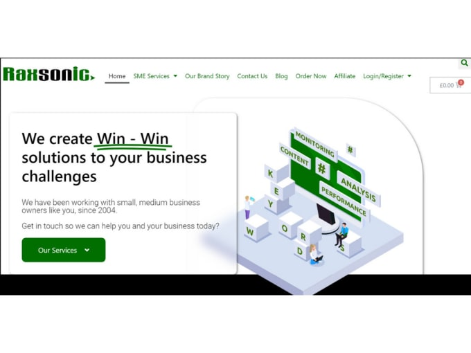 create custom and mobile friendly websites