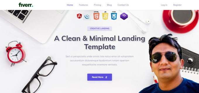 create responsive and attractive landing page design