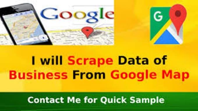 do data scraping data mining from google maps