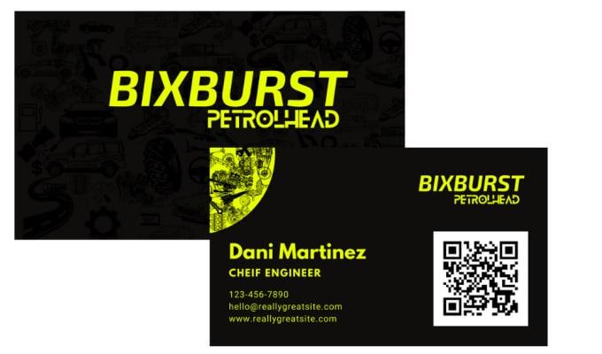 design business card with a unique design