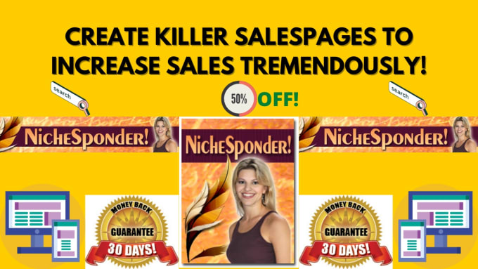 give you premium niche sponder create killer sales pages and increase sales