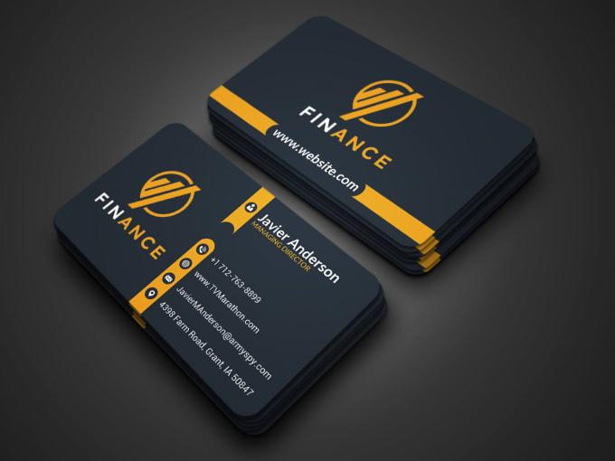 I will do professional luxury digital minimal unique creative business card design