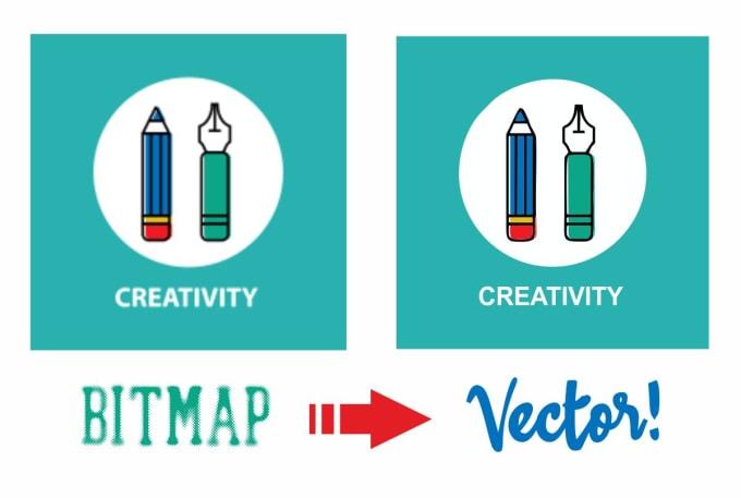 make your bitmap logo or artwork in vector file form