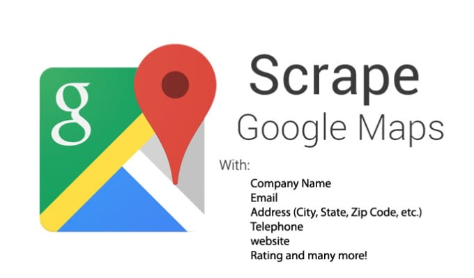 scrap data from google maps