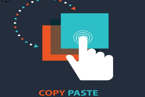 copy paste any type of files