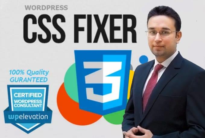 I will fix wordpress CSS quick