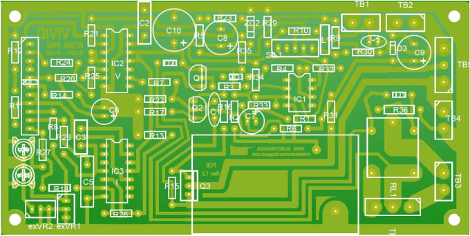 Design Single Sided Pcb For A Given Circuit Diagram By Nuwantha2020