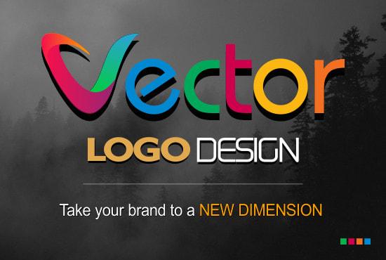 I will do a vector logo design