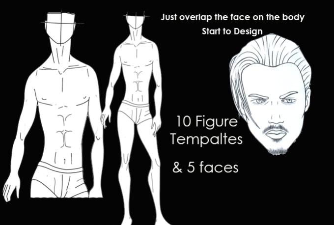 Send You 10 Mens Fashion Figure Templates By Milanfashion