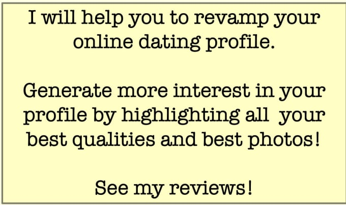 help with my online dating profile