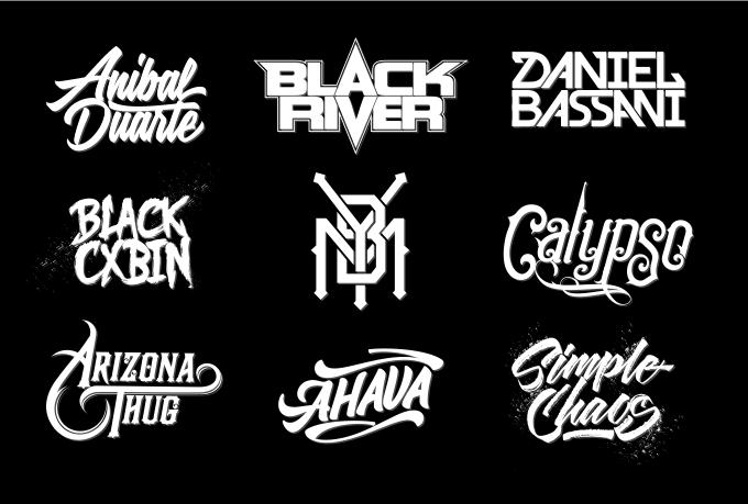 Design Band Logo Dj Musician Or Any Typography Branding By Ajenxris