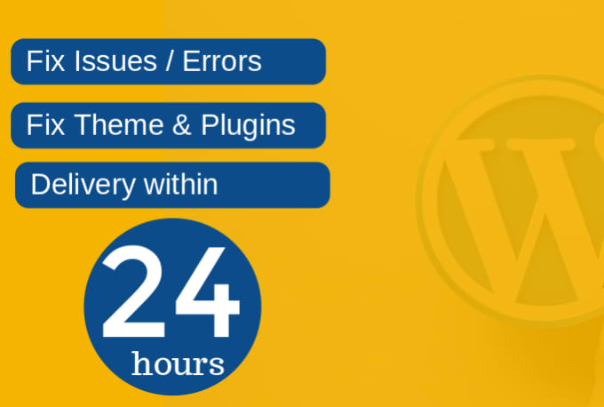 I will fix wordpress issues, errors or problems